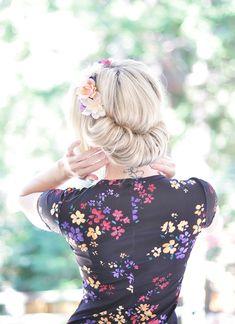 Hair Tutorial - Flower Crown Updo Roll 4-1