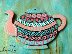 Aztec print teapot (1) (30 LEI la LoveMade.breslo.ro) Handmade Flowers, My Images, Aztec, Tea Pots, Random Stuff, Projects To Try, Places To Visit, Cook, Awesome