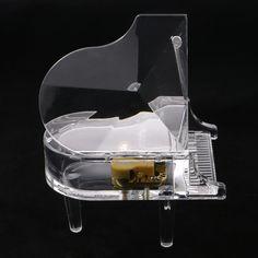 Acrílico Transparente de Piano Music Box Wind Up Music Box Castle in the Sky Mesa de Decoração Para Casa Presentes Criativos Presentes de Natal em Caixas de música de Home & Garden no AliExpress.com | Alibaba Group