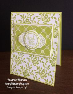 Stampin Up Label Me Pretty Thank You Card Idea - Rosanne Mulhern