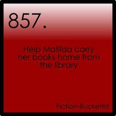 I love these!! A fiction based bucketlist.