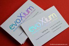 Holographic Foil Business Card | Evoxium