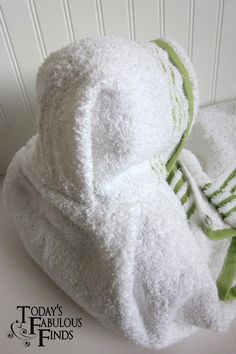 Today's Fabulous Finds: Hooded Bath Towel Tutorial