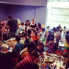 Kids learn, build, and play at McAllen Public Library's Lego Club.