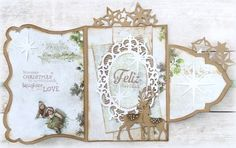 Made by Jolanda: December 3d Cards, Christmas Cards, Tag Art, Vintage World Maps, December, Card Making, Scrap, Ornaments, Paper