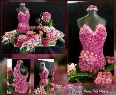 Floral dress frame.