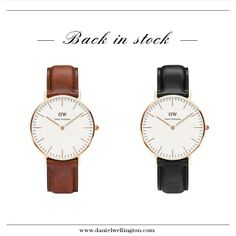 Two of our most popular watches, the Classic St. Andrews and the Classic Sheffield, are now back in stock! Get your favorite #danielwellington watch today at www.danielwellington.com! #preppy #dapper