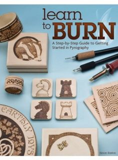 12-7285 - Learn to Burn Book. A Step-by-Step Guide to Getting Started in Pyrography. Learn to Burn offers fifteen step-by-step projects for making decorative gifts-from spoons and spatulas to bangles, bowls and bookmarks-illustrated with clear how-to photographs. Each pyro project can be completed using ready-made materials that are easy to find at your local craft store. Fifty bonus patterns will allow you to unleash your creativity on hundreds of additional woodburning projects.