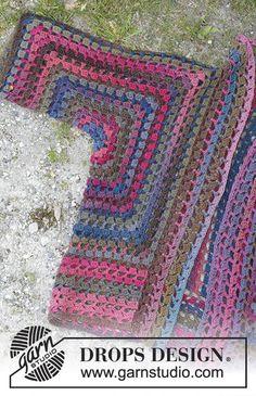 best Ideas for crochet granny square poncho pattern drops design Point Granny Au Crochet, Crochet Lace Scarf, Pull Crochet, Gilet Crochet, Mode Crochet, Crochet Jacket, Knit Crochet, Crochet Summer, Crochet Squares