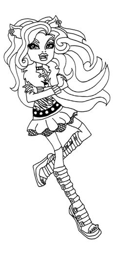 Monster High Colouring Pages : Monster high frankie stein dancing coloring pages ava pin