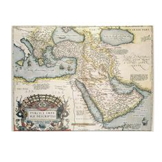 Trademark Abraham Ortelius 'Map of the Middle East, 1570' Art