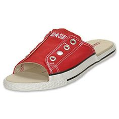 The Converse Chuck Taylor All Star Cut Away Women's Slide Sandals are destined to become your go-to pair?until you wear them out and want another pair! The unique sandals provide a stylish alternative to the iconic look you love. The traditional slide design still has the durable canvas upper so your feet stay comfortable. Get the classic Converse look with a fun twist!