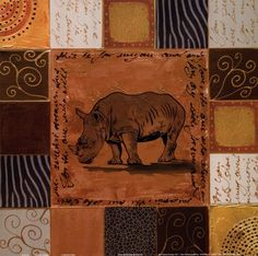 African Collage I Art Print by Patricia Pinto