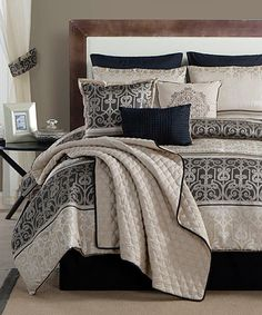 Black Bryant Comforter Set By Luxury Home #zulilyfinds
