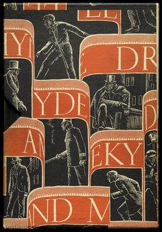 Dwiggins. Slipcase for Strange Case of Dr. Jekyll and Mr. Hyde  by Robert Louis Stevenson, Random House, New York, 1929, 14 x 20.3 cm
