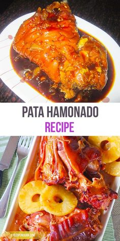 its decadent nature and given that cooked pork hocks can serve several people, you will usually be served pata hamonado during celebrations or fiestas together with other similarly decadent dishes. Philapino Recipes, Asian Recipes, Cooking Recipes, Filipino Dishes, Filipino Food, Filipino Desserts, Pata Recipe, Pinoy Recipe, Recipe Recipe