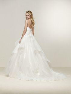 Robe de mariée volants cascade Abiti Da Sposa Principesse aa99908fb4d