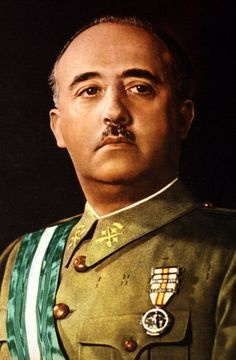Franco - a young Spanish general and the Caudillo of Spain from 1939 until his death in