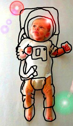 A new mom imagines her son as an astronaut (and more...) by digitally drawing on his photos.