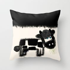 Ol' Blue Eyes Throw Pillow by TT+SMITH by Haina - $20.00