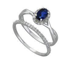 Buy 9ct White Gold 0.25ct tw Diamond & Sapphire Bridal Ring Set at Argos.co.uk - Your Online Shop for Engagement rings, Ladies' rings, Ladies' jewellery, Jewellery and watches.