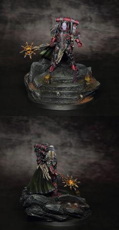 Primarch Lorgar painted by Vardek. Blood Bowl, Miniatures, Minis