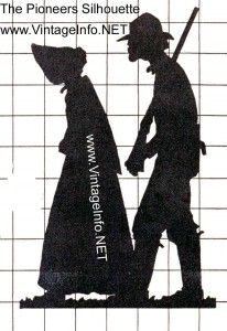 Pioneer Silhouette to use for projects, yard art, ...etc. Free Pattern Download