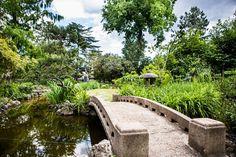 Zuglóban találod Magyarország első japánkertjét, ami még a japán hercegi pár tetszését is elnyerte Garden Bridge, Budapest, Beautiful Gardens, Outdoor Structures, River, Rivers