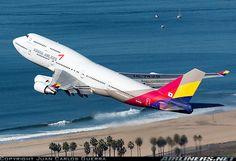 Asiana Airlines Boeing 747-48E Los Angeles - International (LAX / KLAX) USA - California, December 28, 2012