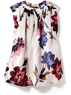 Floral Crinkle-Gauze Dress for Baby | Old Navy