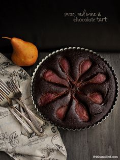 Spiced Red Wine, Chocolate & Pear Cake by 84thand3rd, via Flickr