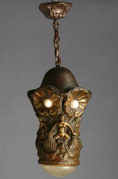 Swedish Jugend Ceiling Lamp ca 1900