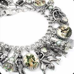 """Siren of the Sea"" Mermaid charm bracelet, inspirational bracelets, Mother's bracelets, personalized je Sea Jewelry, Mermaid Jewelry, Charm Jewelry, Jewelry Shop, Jewelry Stores, Bridal Jewelry, Fine Jewelry, Charm Bracelets, Charm Necklaces"