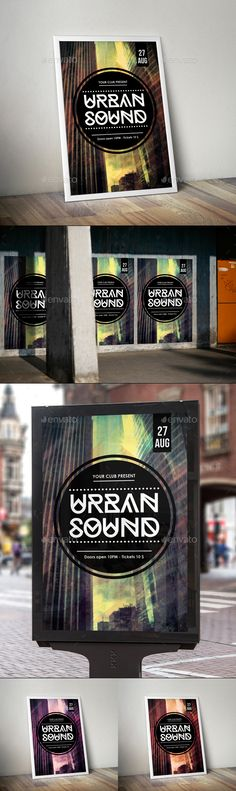 Urban Sound Flyer Poster Template – This awesome futuristic & modern flyer design is the best choice for you if you're looking for urban street style design, abstract futuristic design, or modern creativity style. Flyer for your event! Great for urban festivals, hip-hop events, dub step, drum & bass, house, electro or other style your music party! Of course, feel free to use it for any other type of event if you find it useful.