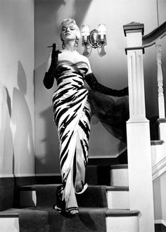 Marilyn Monroe in The Seven Year Itch (1955) — gown by Travilla