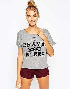 ASOS | ASOS I Crave Sleep Tee & Short Pyjama Set at ASOS