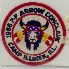 Boy Scout BSA 1966 7-F Arrow Conclave Camp Illinek, Ill. Patch Vintage Collectib in Collectibles   eBay