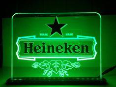 Luminoso Heineken Gravado a laser e Detalhes em acrílico colado em alto relevo!
