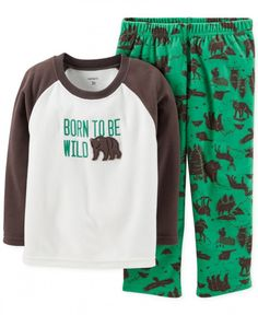 Carter's Boys' or Little Boys' Fleece Pajamas - Kids - Macy's This one reminds me of Gavin Baby Boy Pajamas, Toddler Pajamas, Fleece Pajamas, Carters Baby Boys, Toddler Boys, Baby Kids, Baby Outfits, Newborn Outfits, Toddler Outfits