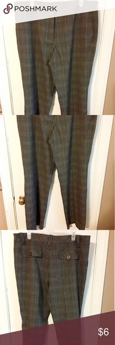 Dress pants by Cato size 16 Browns plaid pants size 16 polyester rayon spandex in very good condition Cato Pants Trousers