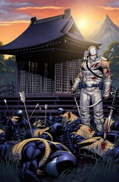 Snake Eyes and Storm Shadow IDW) comic books Arte Ninja, Ninja Art, Thundercats, Dojo, Transformers, Snake Eyes Gi Joe, Samurai, Comic Art, Comic Books