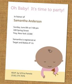 Printable Baby Shower Invite ($7)