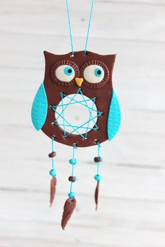 #DreamCatcher #Owl #OwlMobile #mobilewithowl, #Nurserydecor 2nd Anniversary Gifts, Homemade Anniversary Gifts, Boyfriend Anniversary Gifts, Owl Nursery Decor, Owl Home Decor, Owl Mobile, Mobile Baby, Owl Dream Catcher, Polymer Clay Dolls