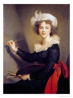 Not young Marie Antoinette, but the artist who so often portrayed her, Elisabeth Vigee Le Brun, a self-portrait. Female Painters, Art Antique, Elisabeth, Painted Ladies, French Revolution, Art Uk, Woman Painting, Artist Painting, Madame