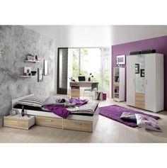 jugendzimmer f r jungs komplett mit wei anthrazit. Black Bedroom Furniture Sets. Home Design Ideas