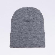 ff426d79a02 Wholesale Flexfit 1501KC Cuffed Knit Beanie Cap  Heather Grey  Contents   100% Hypoallergenic