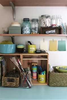 love the different jars for organizing