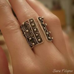 Handmade silver filigree ring... Filigree Jewelry, Filigree Ring, Silver Filigree, Sterling Silver Jewelry, Silver Rings, Modern Jewelry, Jewelry Art, Jewelry Rings, Boho Rings