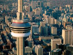 Aerial view of the CN Tower, Toronto, Ontario, Canada. Torre Cn, Covent Garden, Niagara Falls, Montreal, Toronto Cn Tower, Vancouver, Places To Travel, Places To Visit, Canada Pictures