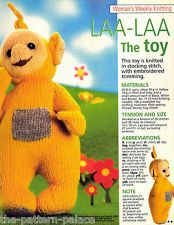Teletubbies LAA-LAA Toy & Children's Dipsy Motif Sweater Knitting Pattern: Designed by Alan Dart and Gary Kennedy: Laa-Laa measurement tall: Sweater to fit chest (Woman's Weekly Pattern) Knitting Stiches, Knitting Wool, Knitting Patterns Free, Baby Knitting, Knitting Ideas, Knit Patterns, Free Knitting, Free Pattern, Crochet Gifts